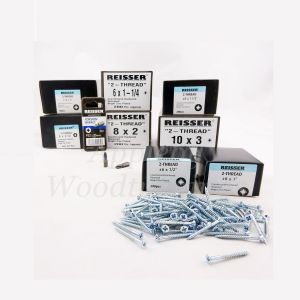 Reisser TWIN THREAD Wood Screws Starter Pack 1,500pcs + 2 Pozi Bits