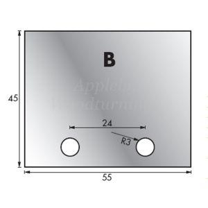 1 Pair 53 x 44mm Whitehill Type B HSS Blank Profile Limiters 002H00012