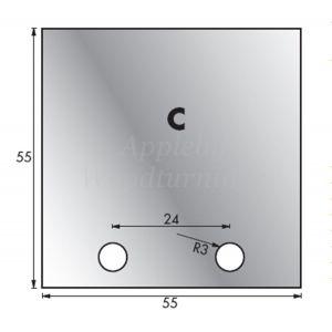 1 Pair 55 x 55mm Whitehill Type C HSS Blank Profile Knives 001H00016