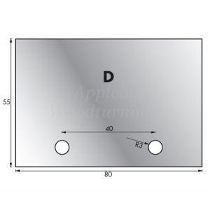 1 Pair 55 x 80mm Whitehill Type D HSS Blank Profile Knives 001H00020