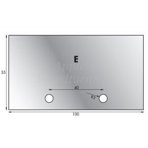 1 Pair 54 x 98mm Whitehill Type E HSS Blank Profile Limiters 002H00024