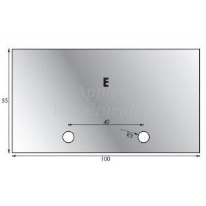 1 Pair 55 x 100mm Whitehill Type E HSS Blank Profile Knives 001H00024