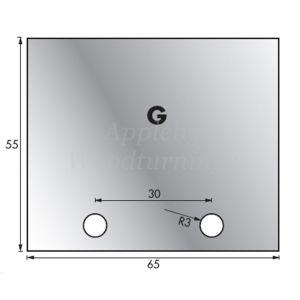 1 Pair 63 x 54mm Whitehill Type G HSS Blank Profile Limiters 002H00032
