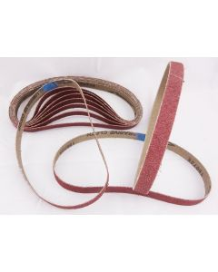 60 Pack Sanding Belts 13 x 457mm Various Grit Sizes