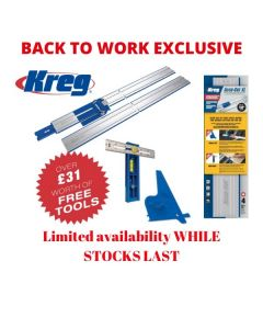 Kreg Accu-Cut XL Saw Track, Square Cut & Multi Mark PROMO KMA3700 £31 of FREE ITEMS