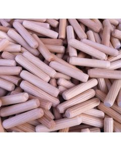 8 x 30mm Beech Fluted Dowel Pins - Various Quantities